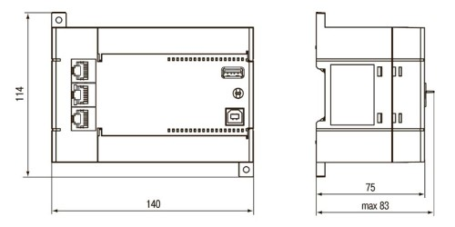 Габаритные размеры ПЛК110-30-ТЛ [М02]