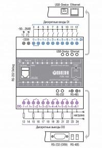 Схема подключения ОВЕН ПЛК100-220.Р