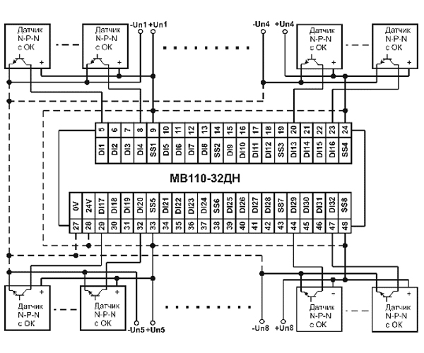 Схема подключения МВ110-24/220.32ДН