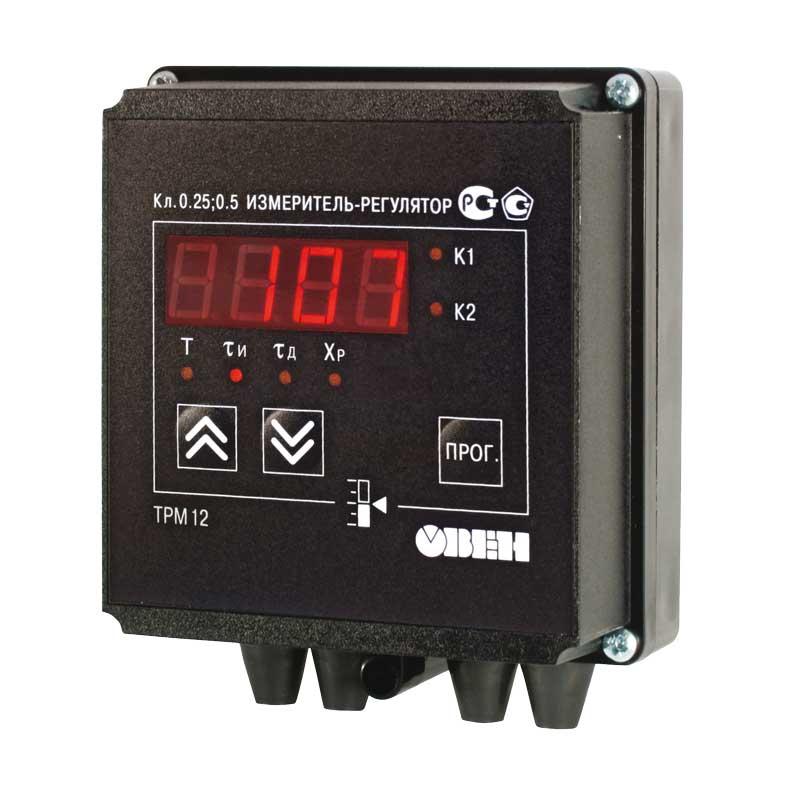Терморегулятор ОВЕН ТРМ12 предназначен для автоматизации подачи теплоносителя в системе ГВС, газового и парового отопления, в теплообменники пастеризаторов, для управления газовыми горелками, управления положением золотника в холодильных машинах, а также в другом технологическом оборудовании, где используются запорно-регулирующие или трехходовые клапаны и задвижки с электроприводом.