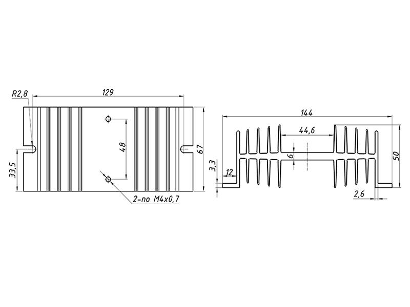 чертеж радиатора РТР061.1