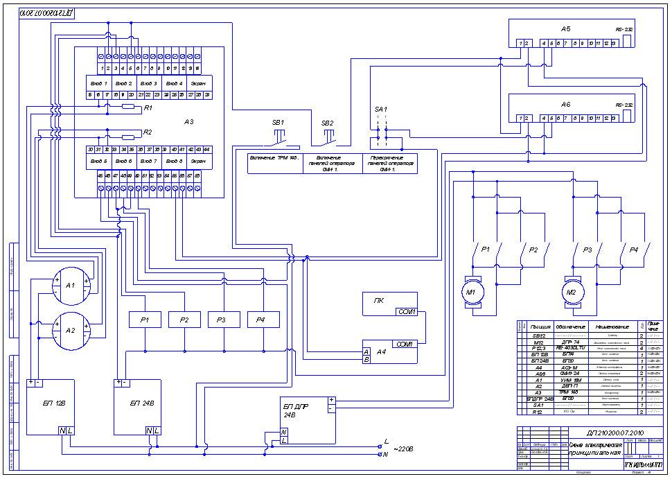 Схема внешних соединений