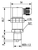 Штуцер с резьбой М20×1,5 фото