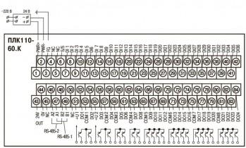 ОВЕН ПЛК110-60. Схемы подключения