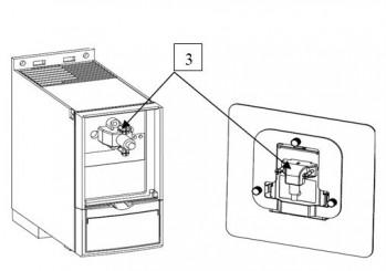 Монтаж кабеля- удлинителя 3м. «Комплект КМ1/2-1» и «Комплект КМ3-1», поз.3