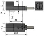 Габаритный чертеж ширина корпуса 8 мм