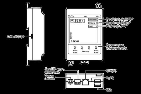 Внешний вид ПЛК304