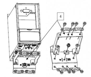 Монтаж панели кабельной: «Панель ПК1-х» и «Панель ПК3-х», поз 4.
