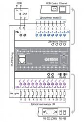 Схема подключения ОВЕН ПЛК100-24.К