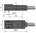 Габаритный чертеж ширина корпуса 11 мм