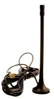 Компактная антенна на магнитной базе с кабелем длинной 2,5 м Применяется совместно с модемом ПМ01 и модемами сторонних производителей оснащенными разъемом SMA-F.