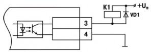 Схема подключения нагрузки к ВУ типа К