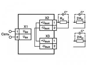 Схема подключения БП04