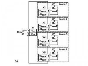 Схема подключения БП14Б-Д4.4-хх (б)