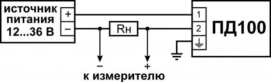Схема подключения ПД100-ДИ-111 «EXIA»/115-«EXD»