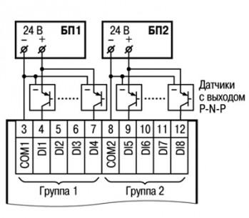 Схема подключения к ПРМ-24.1