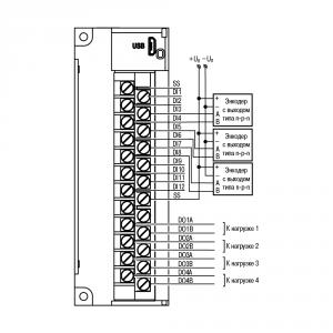 Схема подключения энкодера n-p-n типа