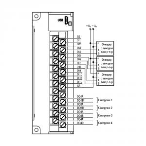 Схема подключения энкодера p-n-p типа