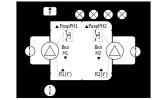 Регулирование давления 2-мя насосами по аналоговому датчику давления