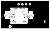 Заполнение резервуара 2-мя насосами по аналоговому датчику уровня