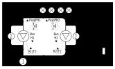 Осушение резервуара 2-мя насосами по аналоговому датчику уровня