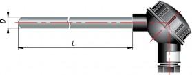 Конструктивные исполнения термосопротивлений типа ДТС-И со встроенным нормирующим преобразователем НПТ