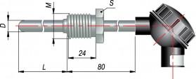 Термопары типа ДТПК (ХА), ДТПL(ХК) с выходным сигналом 4...20 мА (модели ХХ5)