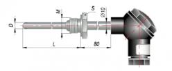 Конструктивные исполнения термометров сопротивления типа ДТС с коммутационной головкой (модели ХХ5)