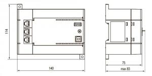 Габаритные размеры ПЛК110-30, ПЛК110-32