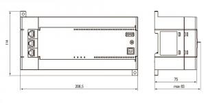 Габаритные размеры ПЛК110-60