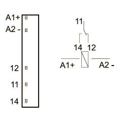 Схема подключения интрефейсных промежуточных реле KIPPRIBOR серии SR