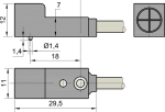 Индуктивные бесконтактные датчики - 11мм