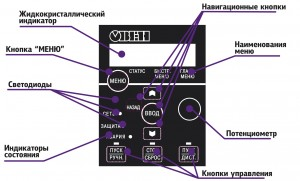 Локальная панель оператора №1, с потенциометром