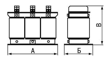 Массогабаритные характеристики сетевых дросселей РСО и РСТ