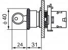 Габаритные размеры MTB2-ES14
