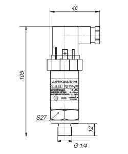Габаритные размеры ПД100-ДИ-181