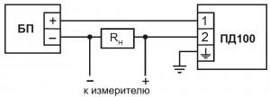 Схема подключения ПД100–ДД, –ДИ,–ДИВ