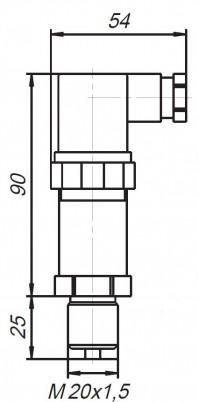 Датчики давления ПД100. Габаритные размеры