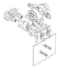 Монтаж ПД200-ДД на плоскость, к процессу через импульсные трубки