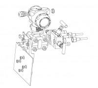Монтаж ПД200-ДД на плоскость, к процессу через вентельный блок