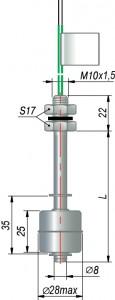 Поплавковый датчик уровня ОВЕН ПДУ-2.1.L