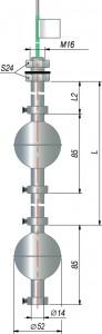 Двухуровневые поплавковые датчики уровня ОВЕН ПДУ-3.2