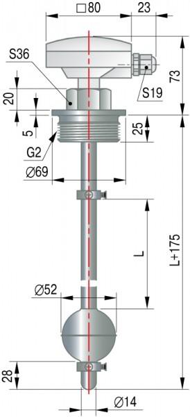 Габаритные и присоединительные размеры датчиков ПДУ-И