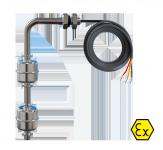 Двухуровневые поплавковые датчики ПДУ-1.2-Ex с силиконовым кабелем