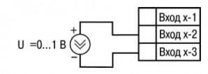 Подключение активного датчика с выходом в виде напряжения 0...1 В