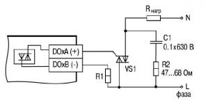 Схема подключения нагрузки к ВЭ типа «С»