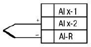 Схема подключения термопары (термоэлектрического преобразователя)