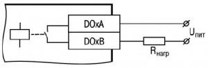 Схема подключения нагрузки к ВЭ типа «Р»