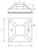 Самоклеющиеся площадки для кабельных хомутов размеры