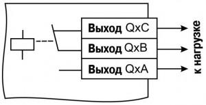 Схема подключения нагрузки к ВУ типа Р